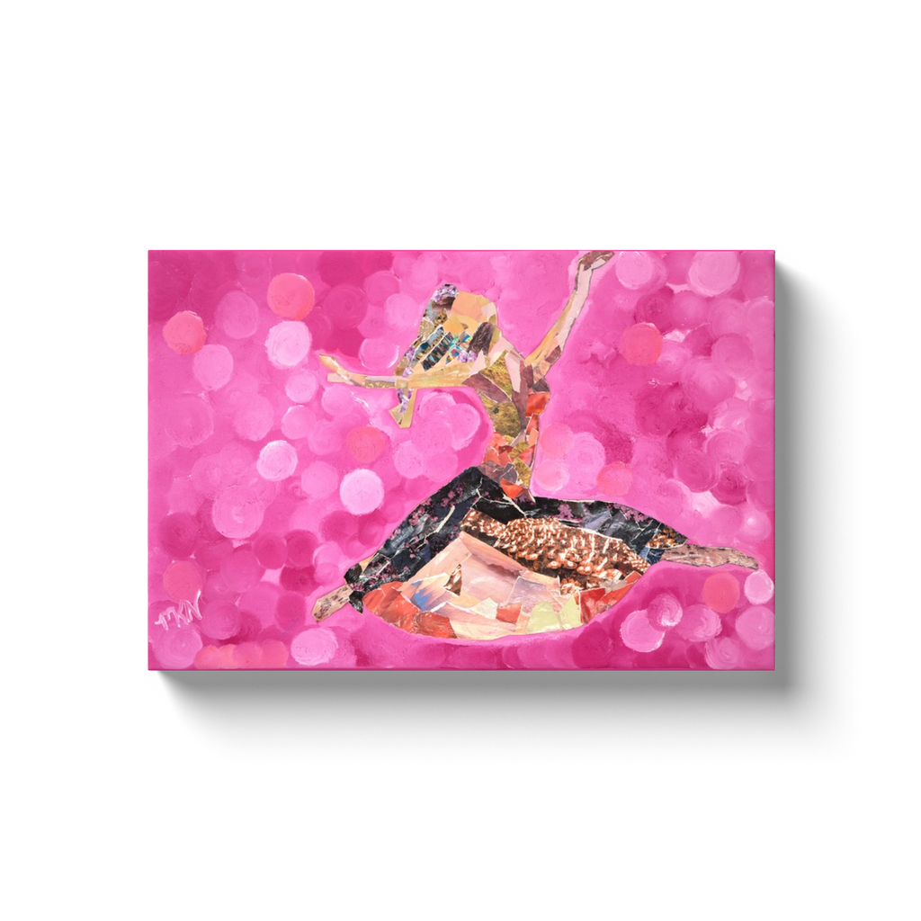 Meghan Nathanson Artistry woman dancing collage art on canvas wrap