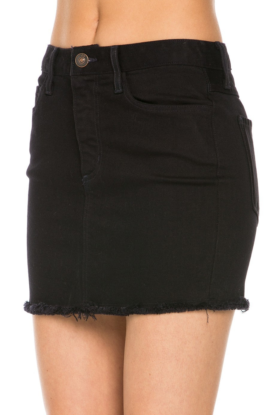 Hold Me Tight High Waisted Black Skirt