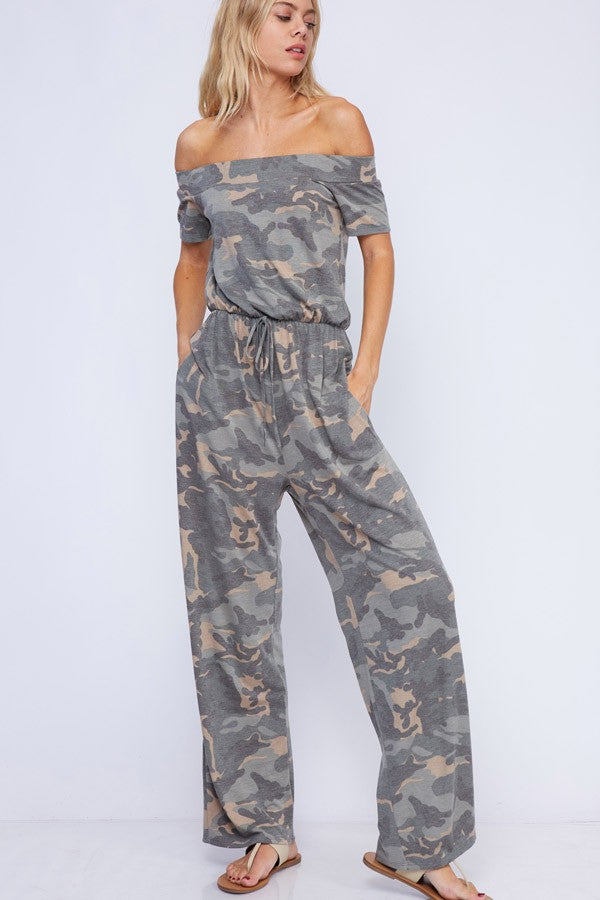 Collins Camo Jumpsuit