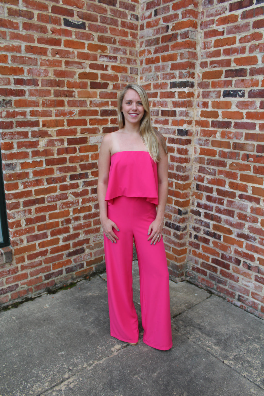 Ava Fuchsia Jumpsuit by Cashmere and Company
