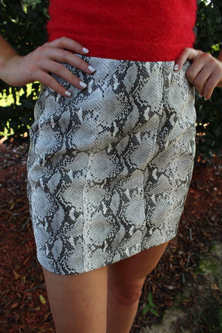 Avril Snake Skin Skirt by Cashmere and Company
