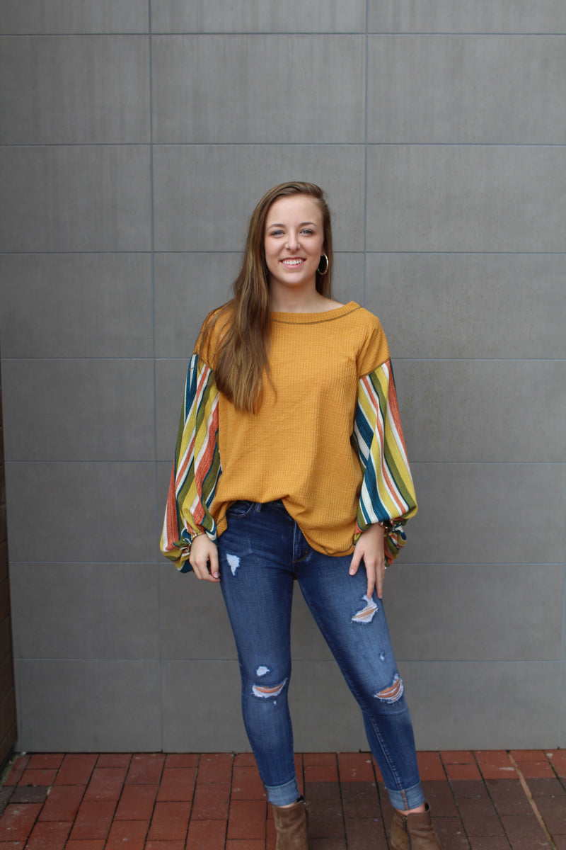 Better Than The Rest Waffle Knit Top by Cashmere and Company