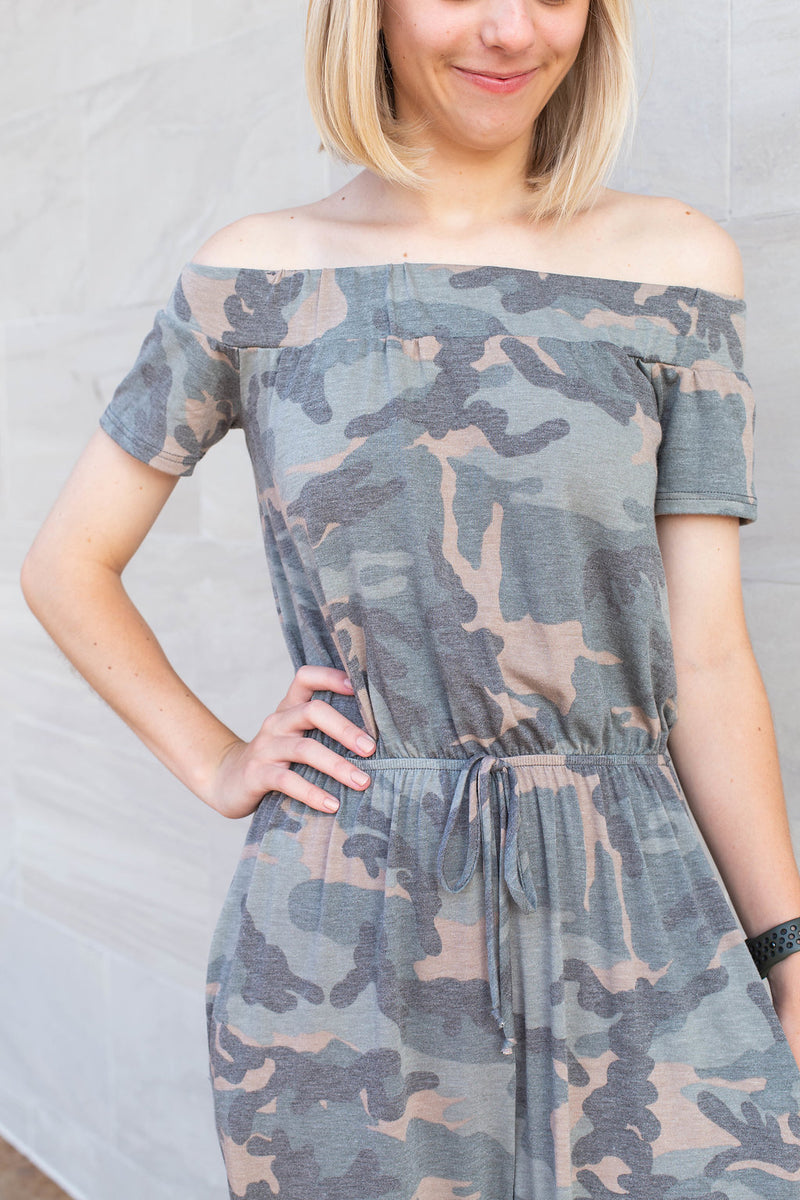 Collins Camo Jumpsuit by Cashmere and Company