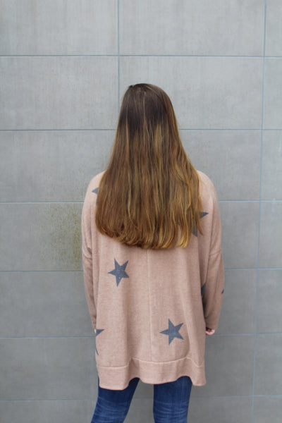 Earn Your Stars Taupe Sweater by Cashmere and Company