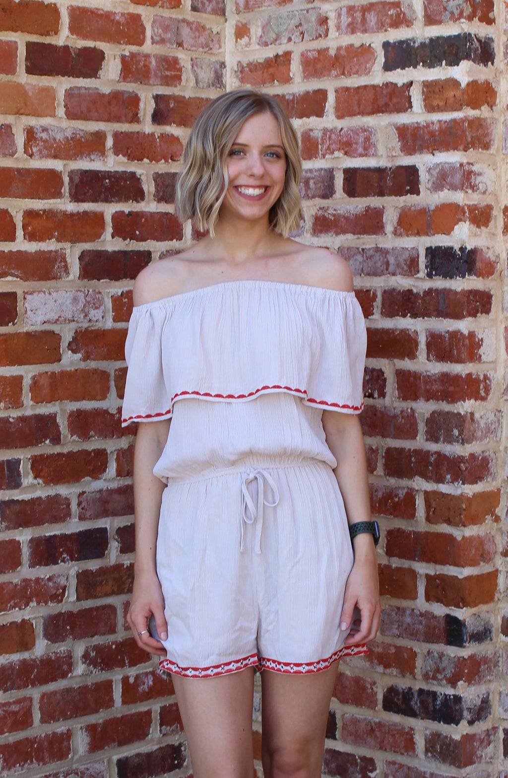 Forever Yours Off The Shoulder Romper by Cashmere and Company