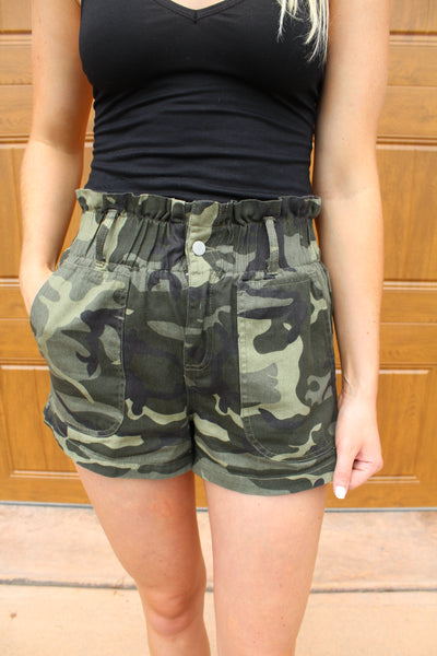 Gemma Camo Shorts by Cashmere and Company