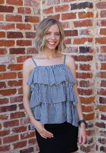 Giddy with Gingham Tank by Cashmere and Company