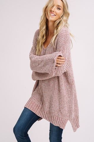 Say Something Drawstring Sweater