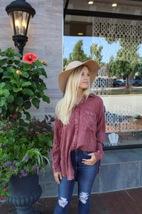 Monroe Mauve Button Up by Cashmere and Company