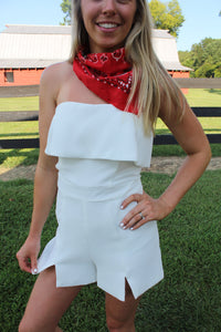 Need You Now White Romper by Cashmere and Company