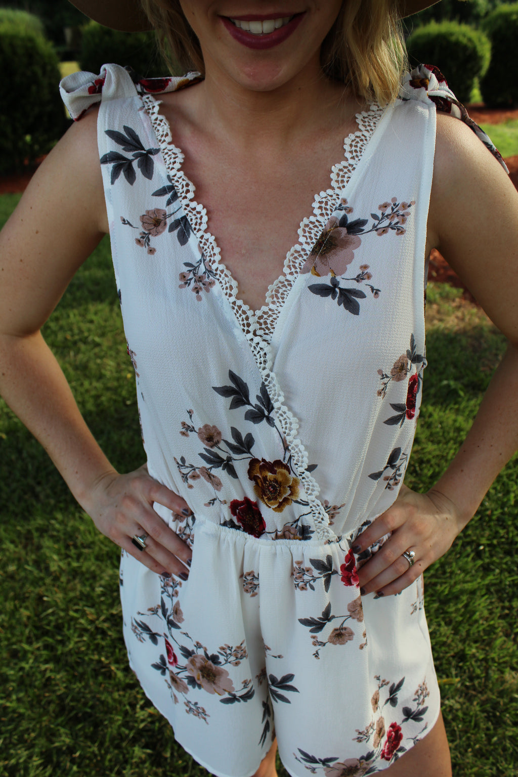 Nellie Floral Romper by Cashmere and Company