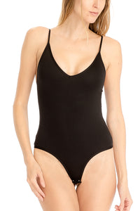 Not So Basic Black Bodysuit by Cashmere and Company
