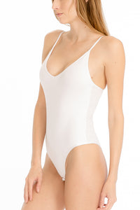 Not So Basic White Bodysuit by Cashmere and Company