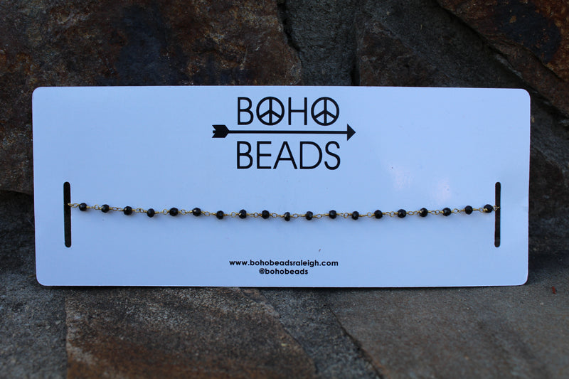 Rosary Choker - Black by Cashmere and Company