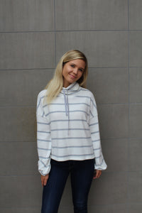 Say Something Drawstring Sweater by Cashmere and Company