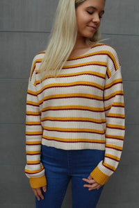 Tupelo Honey Striped Sweater by Cashmere and Company