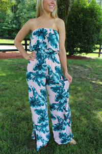 Under The Palms Jumpsuit by Cashmere and Company