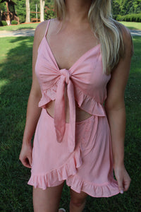 Why Knot Ruffle Romper by Cashmere and Company