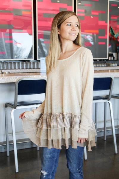 Central Park Long Sleeve Babydoll Top