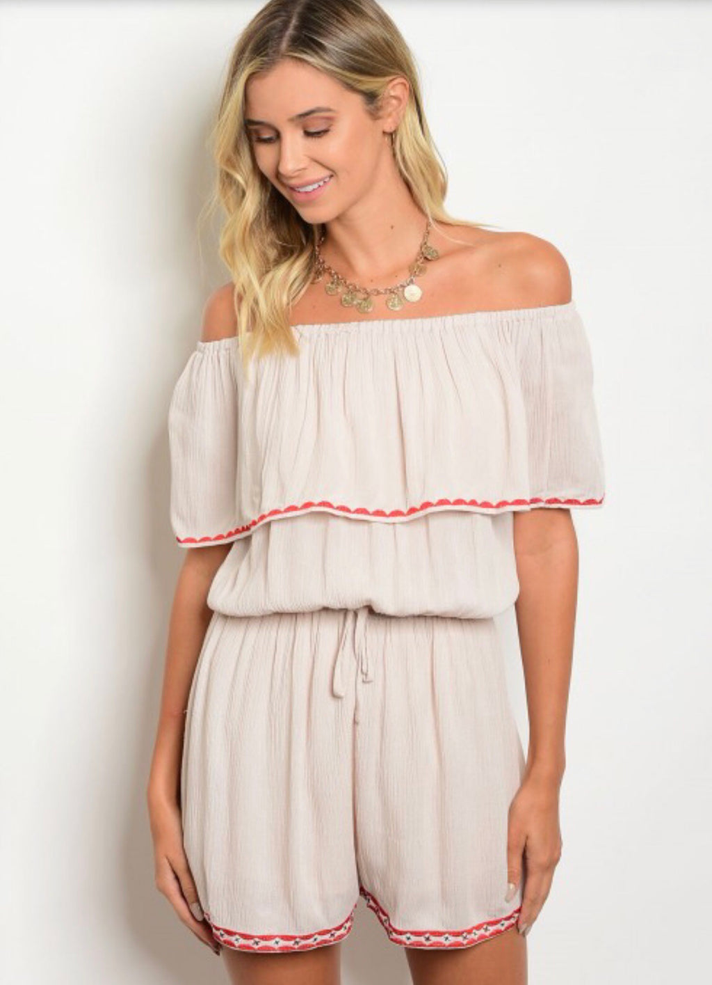 Forever Yours Off The Shoulder Romper