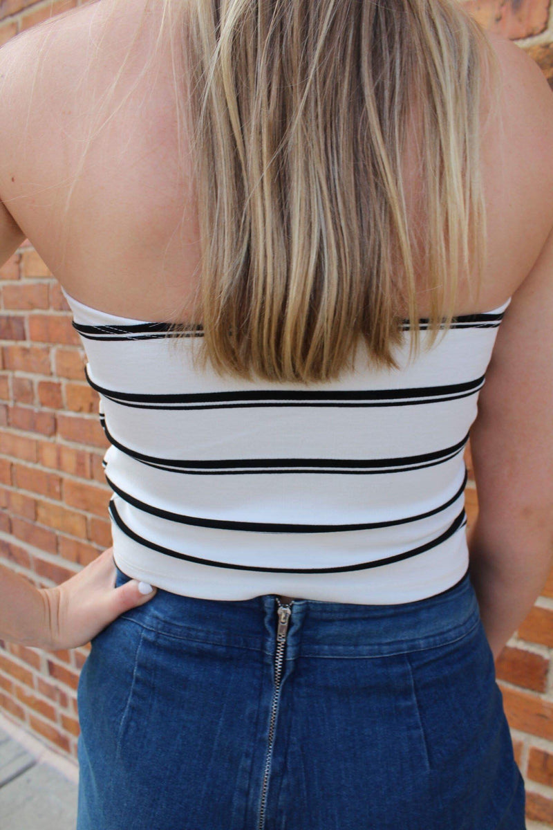 Tia Striped Tube Top by Cashmere and Company