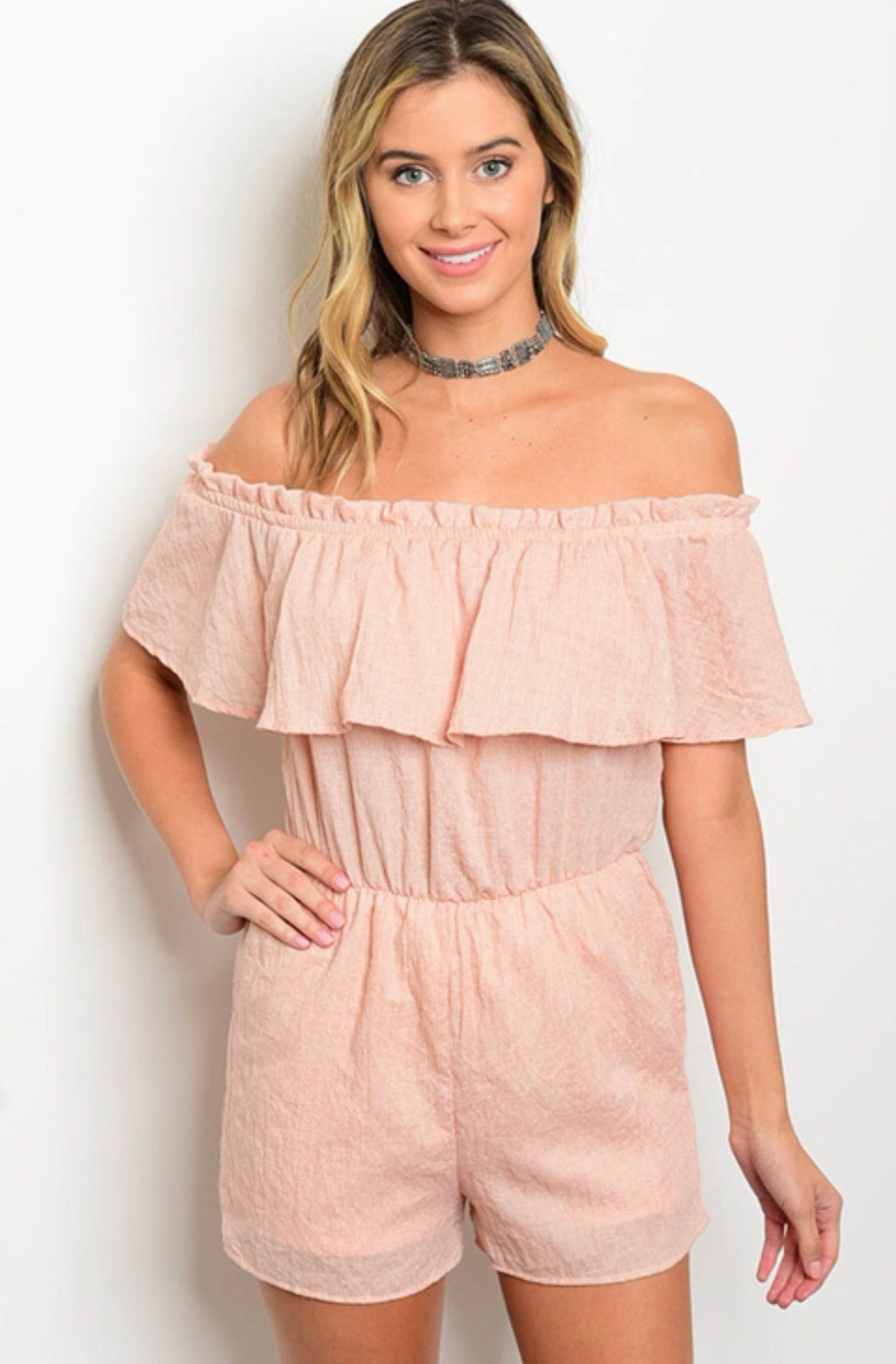 Summer Love Off The Shoulder Romper
