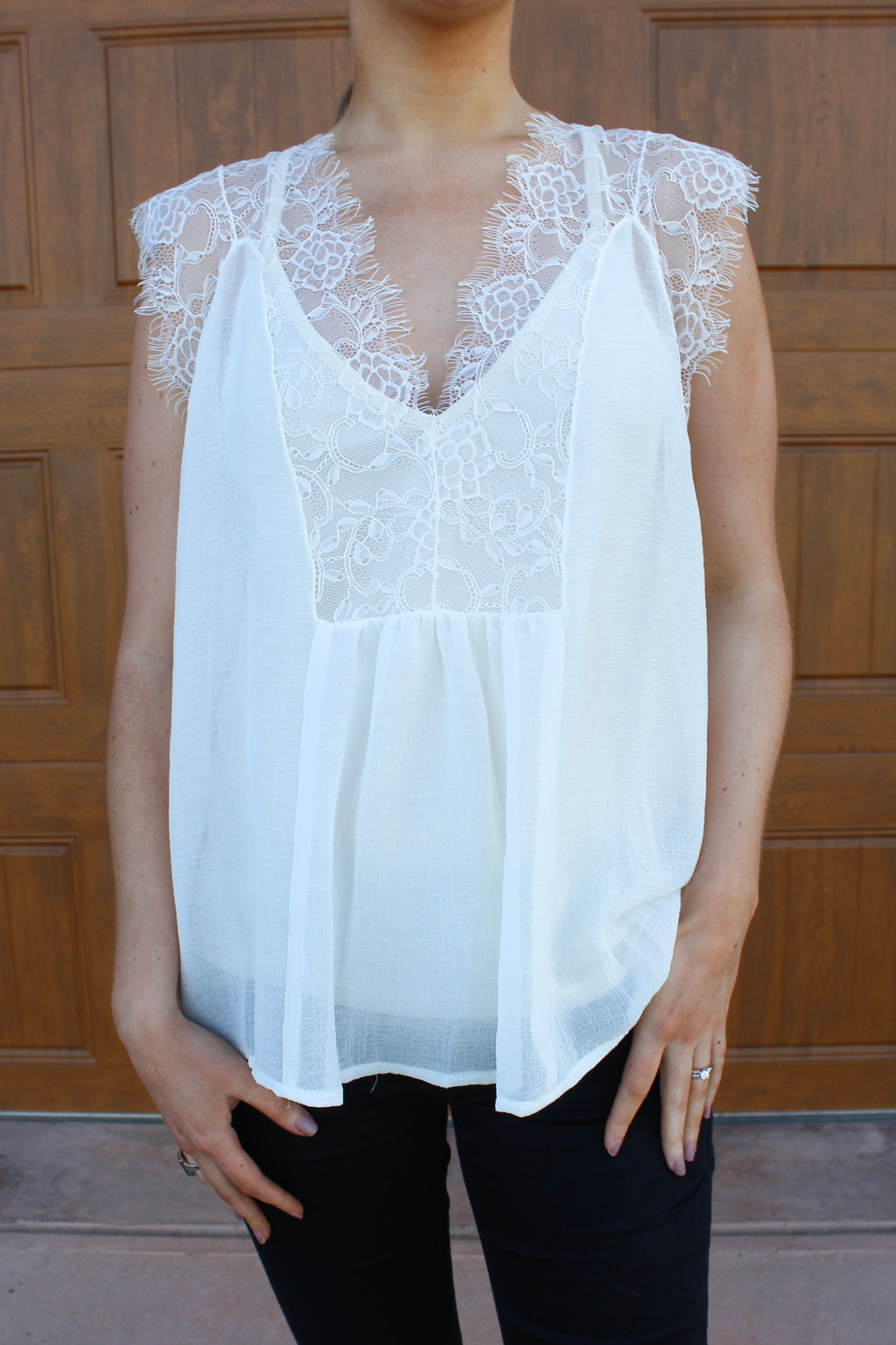 Sweet Caroline Lace Top