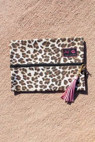 Whitesnake Small (9x7) Makeup Junkie Bag