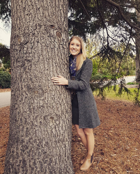 Candice bauer hugging a tree bare by bauer natural body and skin care_files