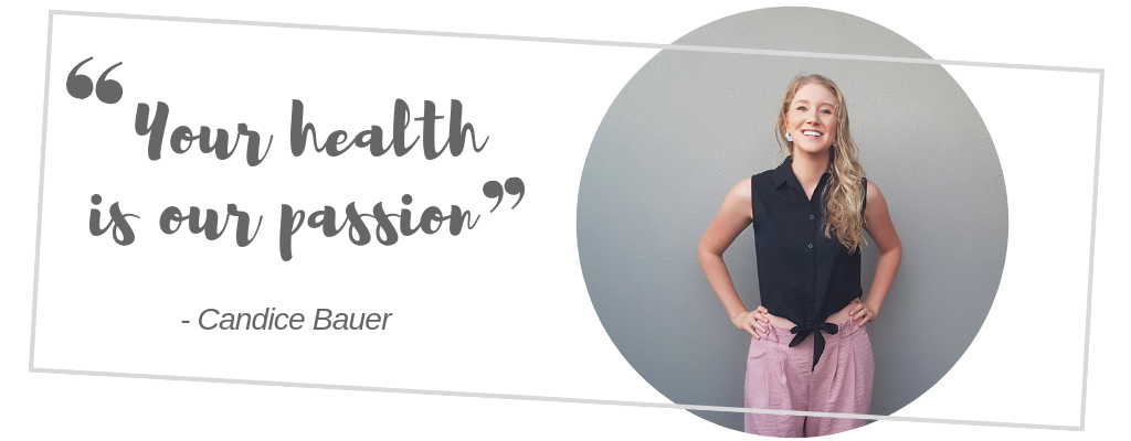 Your health is our passion quote by candice bare by bauer bundaberg