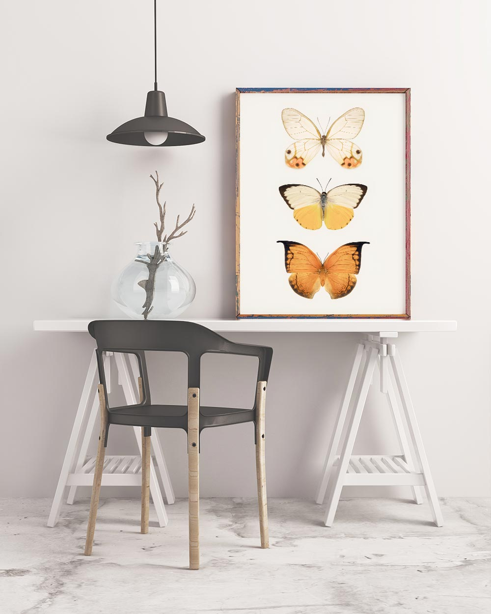 Butterfly Art Print in Frame