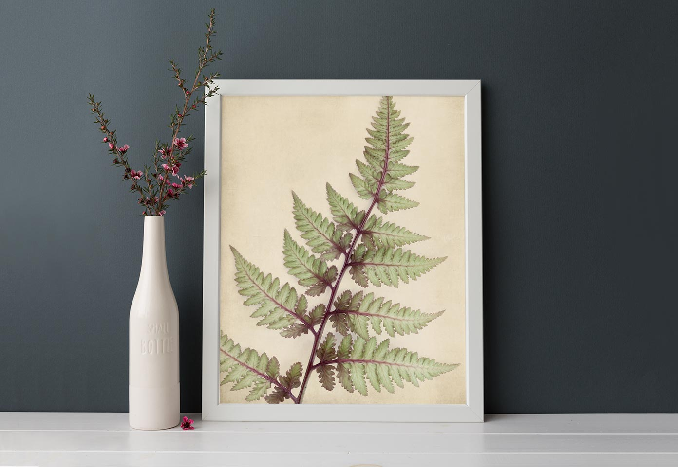 "Fern Art, Botanical Print ""Japanese Painted Fern"""