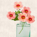 Pink Calibrachoa Flower Photography Print by Allison Trentelman