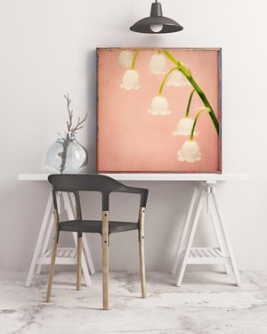 Sample framed image of lily of the valley art print