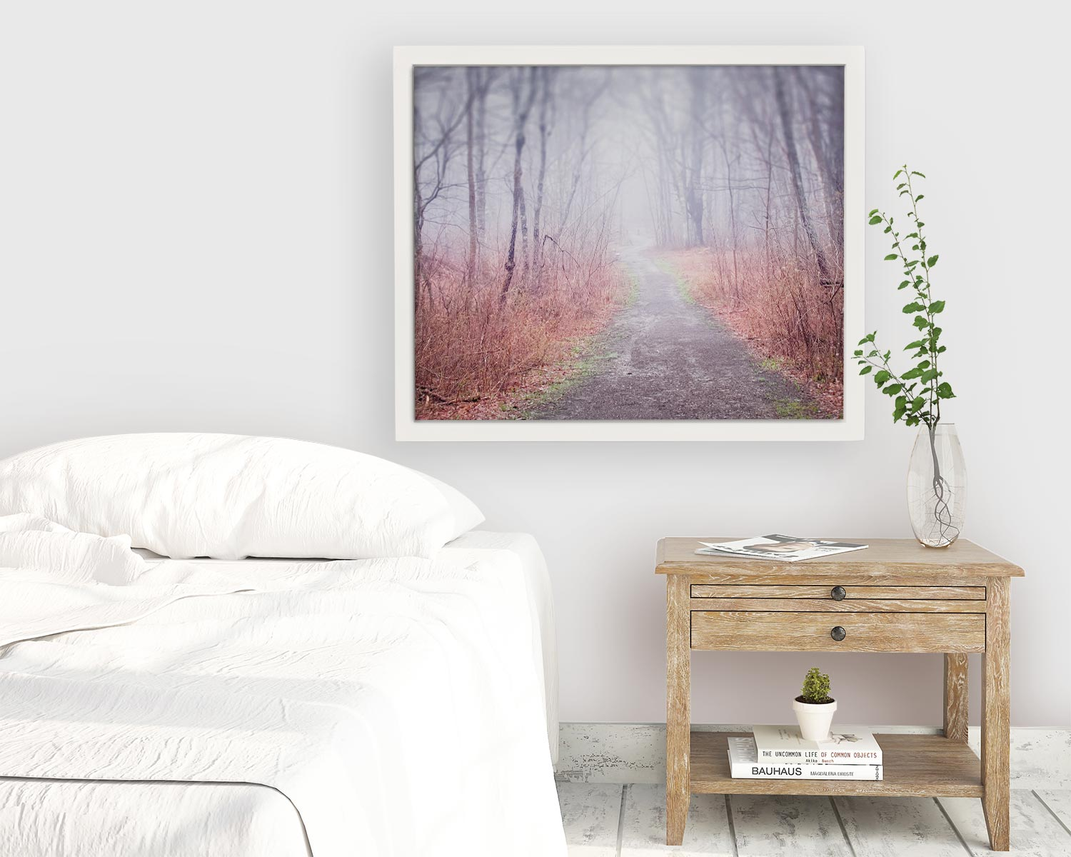 "Maine Landscape Photography Print ""Winding Path in Fog"""