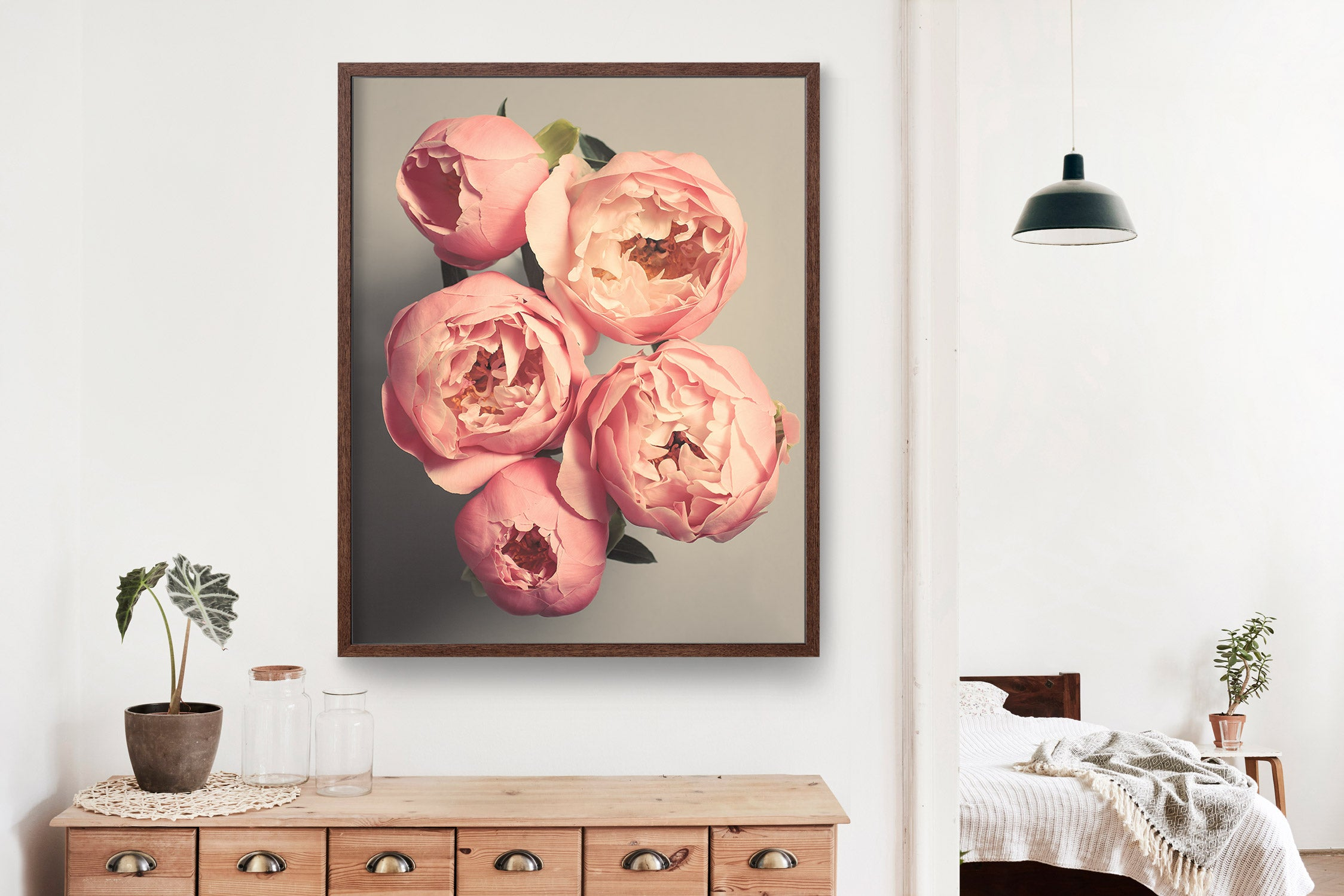 "Fine Art Flower Photography Print ""Coral Peonies No. 52"""