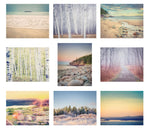 "Affordable Art Print Set - Mini Portfolio ""Maine Landscapes"""