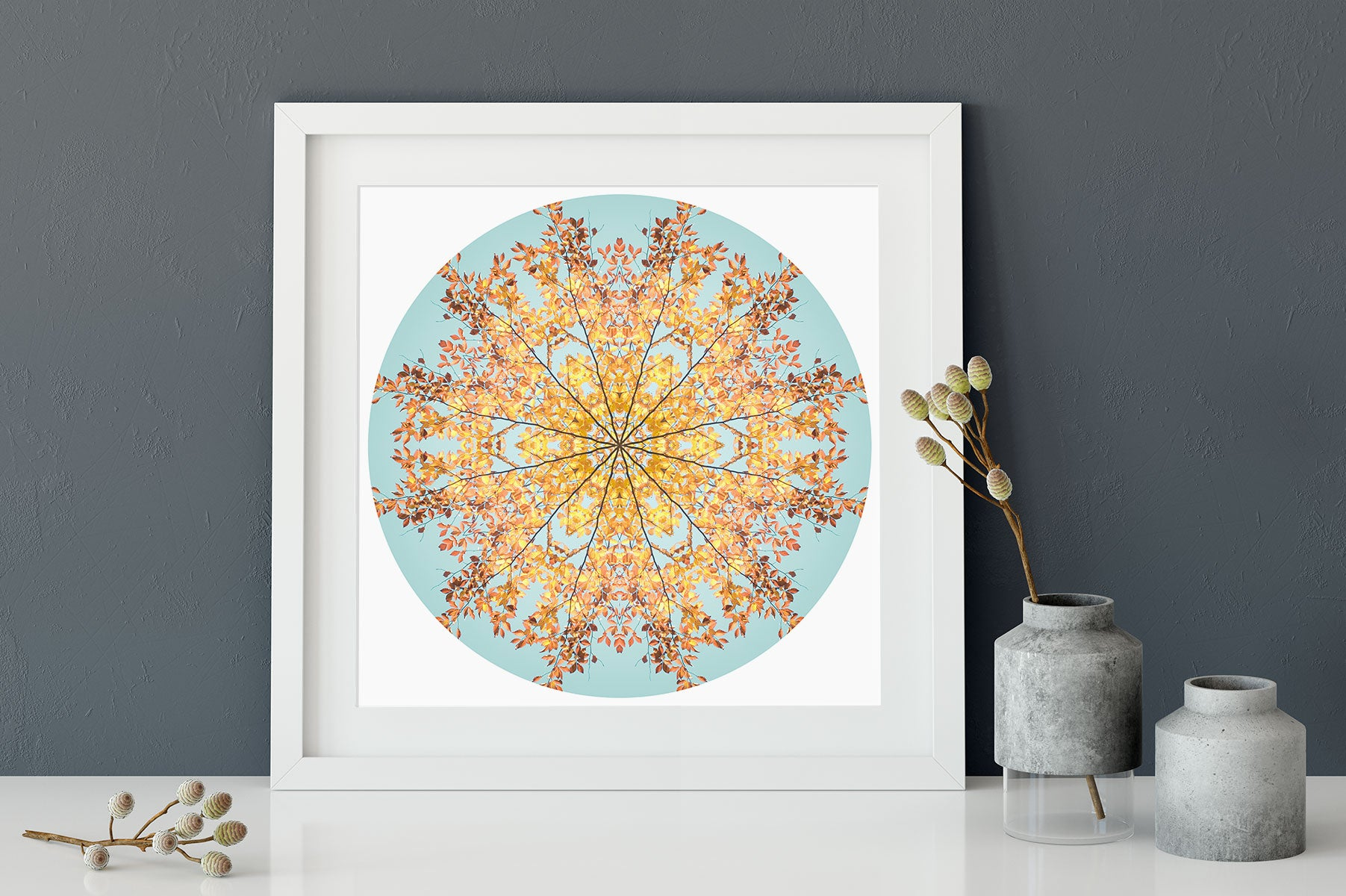 Nature Mandala Art Print No. 1101