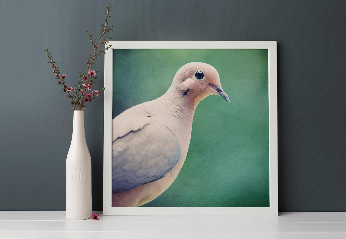 "Nursery Decor, Bird Wall Art Print  ""Mourning Dove No. 8"""