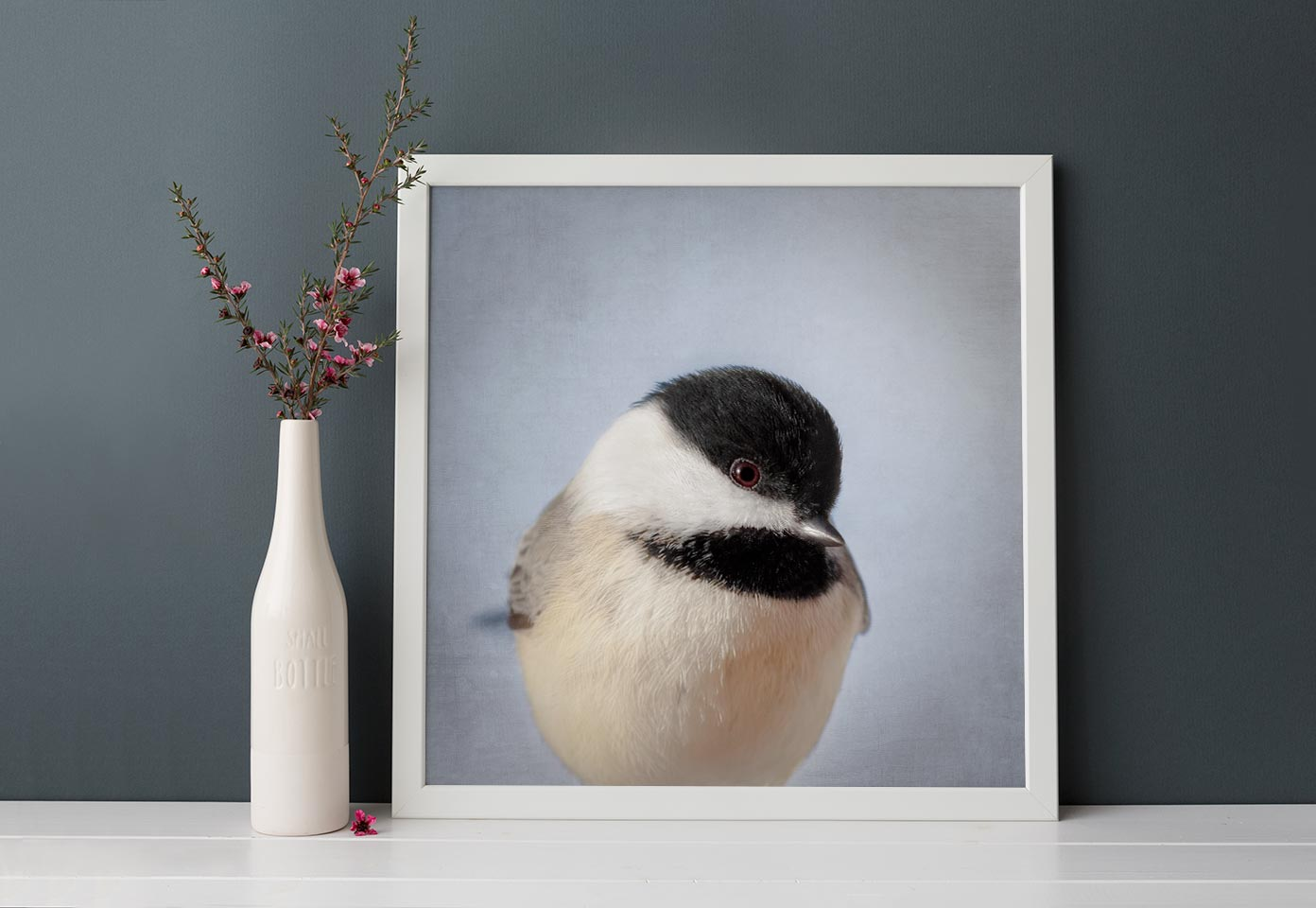 "Bird Portrait, Fine Art Bird Photography Print ""Chickadee No. 14"""