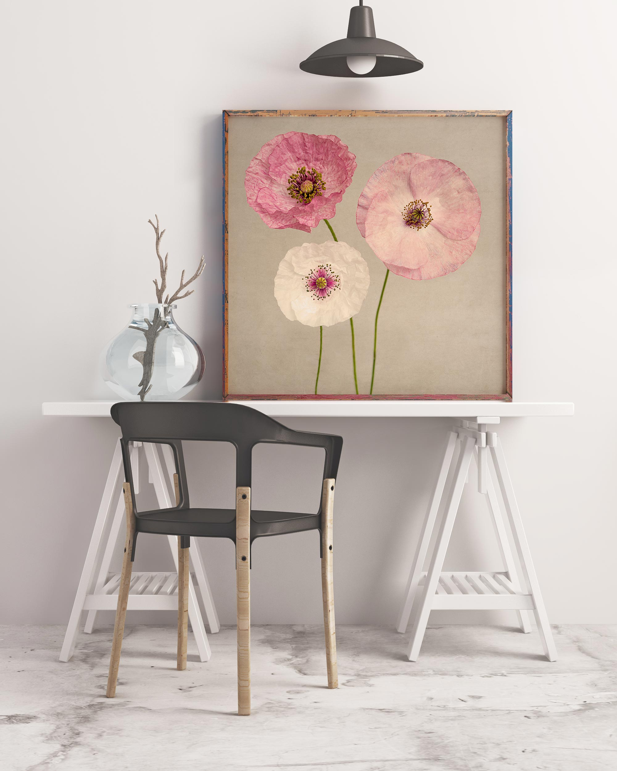 "Poppy Art, Fine Art Flower Photography Print ""Pink Poppies No. 2"""