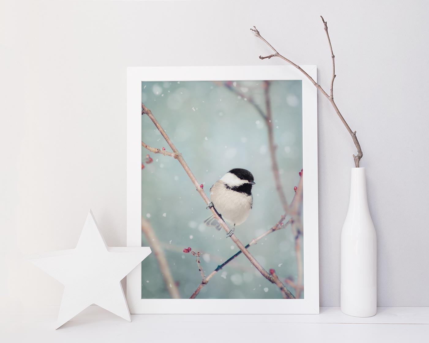 Chickadee in Snow No. 18