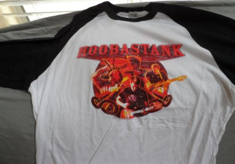 HOOBASTANK - 2004 Distressed US Tour 2-sided Retro Jersey ~Never Worn~ LARGE