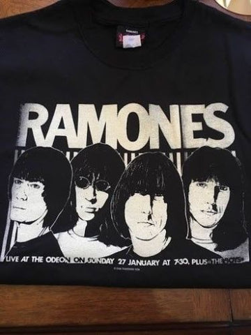 "RAMONES - ""Live at the Odeon"" T-shirt ~Never Worn~ SMALL"