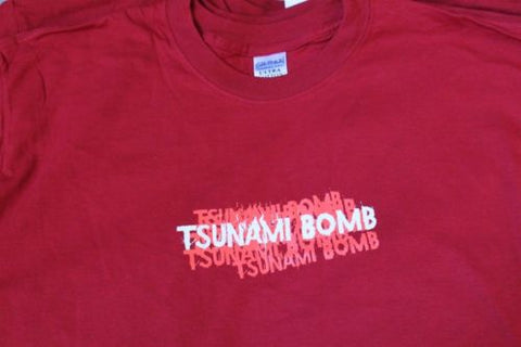 TSUNAMI BOMB - T-shirt with side graphics, Red or Black ~Never Worn~ M XL