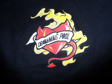 DROWNING POOL - Burning Heart Baby Doll T-Shirt ~Never Worn~ OSFA