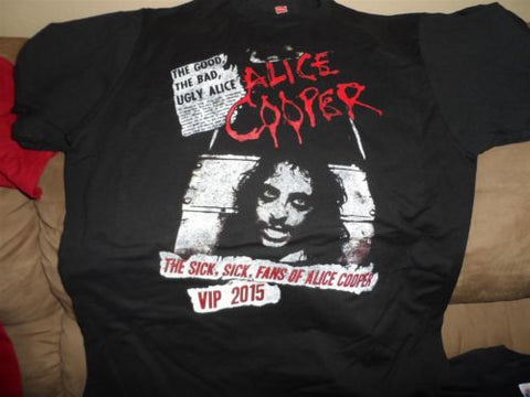 ALICE COOPER- 2015 VIP Sick, Sick Fans of Alice Cooper T-Shirt ~Never Worn~ M L
