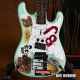 "BILLY JOE ARMSTRONG ""Blue"" Strat 1:4 Scale Replica Signature Guitar ~Axe Heaven"