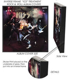 KISS - First Album Cover Framed Glass Picture 12.5 x 12.5 x 1.5 ~New~