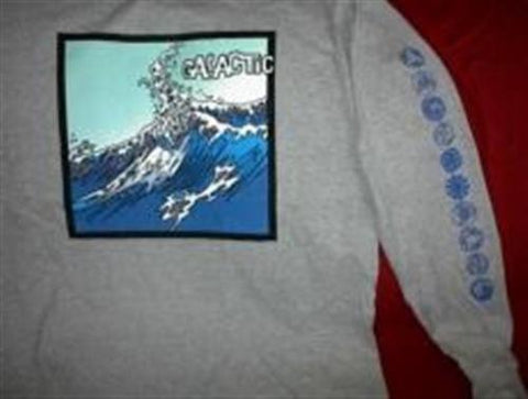 "GALACTIC - ""Wave"" Long Sleeve T-Shirt ~Never Worn~ XL"
